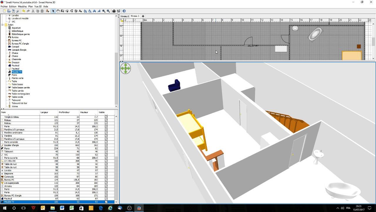 sweet home 3d comment construire un etage - Sweet Home 3d Maison A Etage