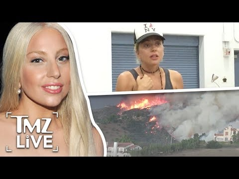 Lady Gaga Lifts Spirits Of Wildfire Victims | TMZ Live