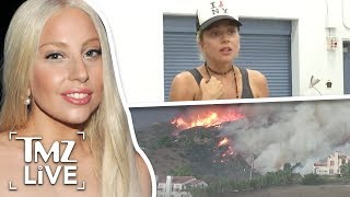 Lady Gaga Lifts Spirits Of Wildfire Victims | TMZ Live