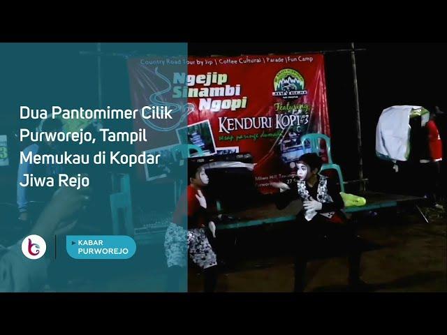 Dua Pantomimer Cilik Purworejo, Tampil Memukau di Kopdar Jiwa Rejo