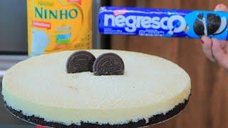 Torta de Leite Ninho e Negresco