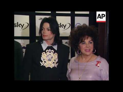 Michael Jackson and Liz Taylor appear in London