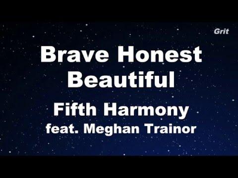 Brave Honest Beautiful - Fifth Harmony feat. Meghan Trainor Karaoke 【No Guide Melody】Instrumental