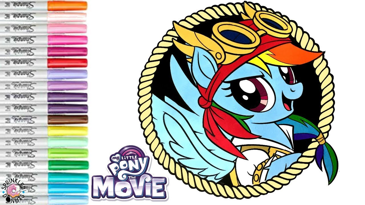 My Little Pony Coloring Book Pirate Rainbow Dash MLP Movie 2017