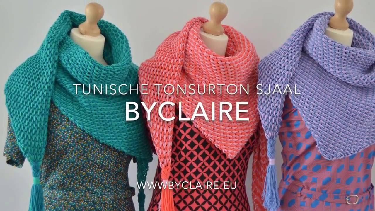 Byclaire Tunisch Gehaakte Sjaal Tonsurton Youtube