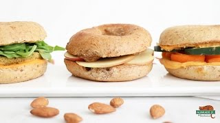 Video Bagel Sandwiches 3 Ways! Quick & Healthy Lunch Recipes | Alvarado Street Bakery download MP3, 3GP, MP4, WEBM, AVI, FLV Agustus 2018