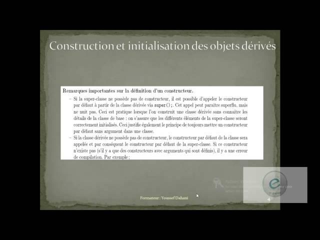 Java : Construction de l'objet de la classe dérivée