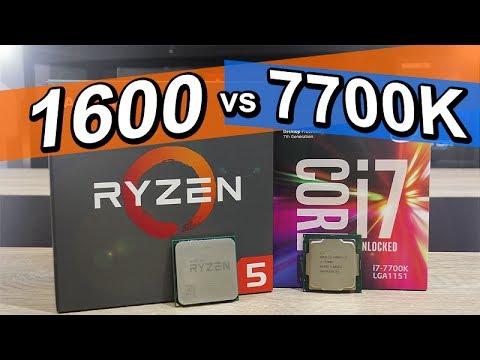 AMD Ryzen 5 1600 vs Intel i7-7700K