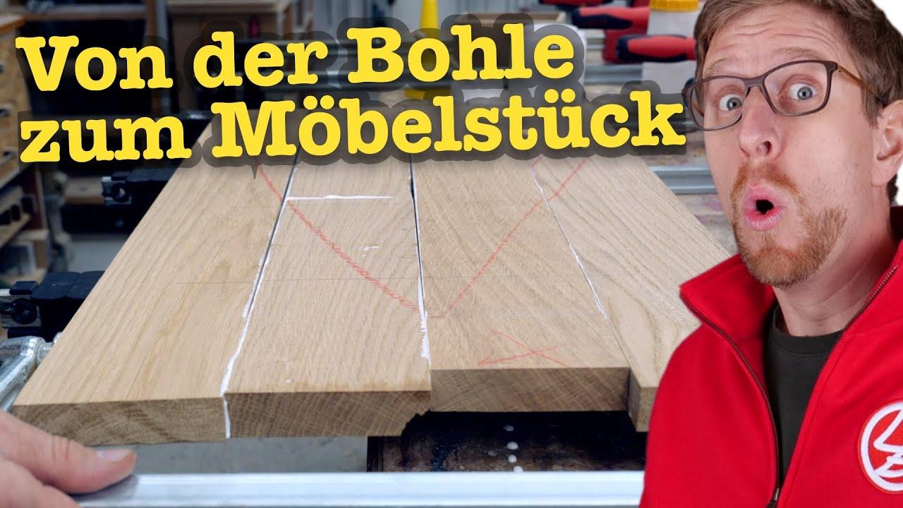 Von der Holzbohle zum Möbel | Ein Massivholz-Sideboard entsteht