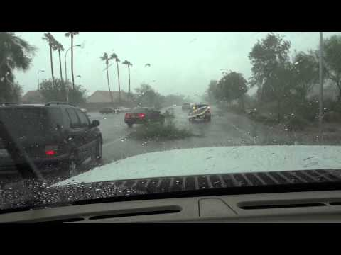 Part 3 - Dust Storm & Massive Micro Burst in the Ahwatukee Foothills in Phoenix Arizona