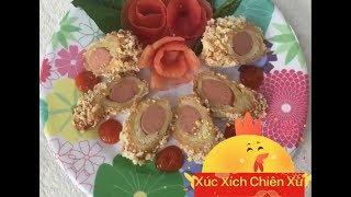 Cách làm món xúc xích chiên xù ngon đúng điệu mà bé nào cũng thích!!!