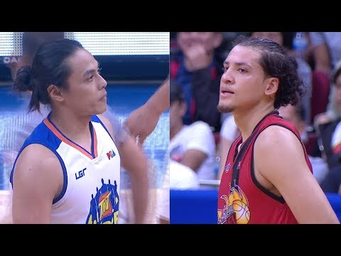 Things got a little testy between Terrence Romeo and Marcio Lassiter   PBA Commissioner's Cup 2018