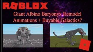 Roblox Dinosaur Simulator - G.A.B Remodel Animations + New Galactics!
