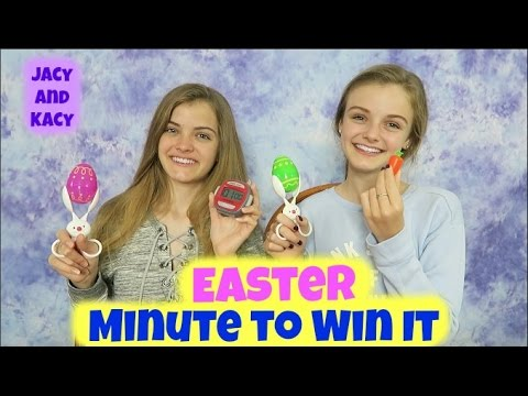 Easter Minute to Win It Challenge ~ 2017 ~ Jacy and Kacy