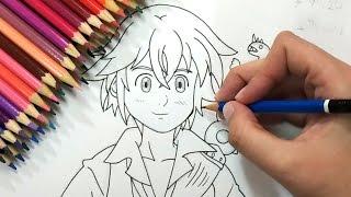 🔴 DESENHANDO AO VIVO! [Pintando Meliodas e desenhando Dipper]