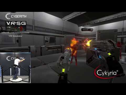 Cyberith Virtualizer Elite With Cykyria VR Shooter Guns