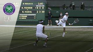 Roger Federer vs Rafael Nadal | Wimbledon 2008 | Best Rallies