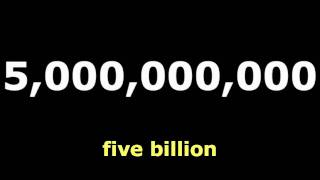 Numbers: Billion : English Language Learning
