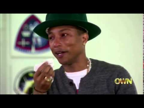 OPRAH MAKES PHARRELL WILLIAMS CRY OVER HIS song ''happy''