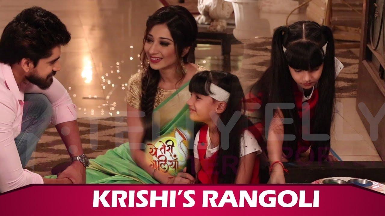 Download Yeh Teri Galliyan: Krishi Makes Rangoli, Shantanu-Puchki Get Emotional   Zee TV