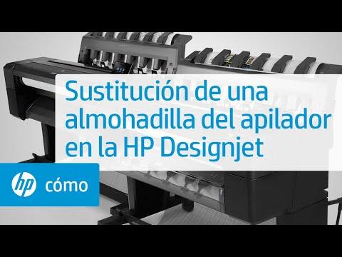 Sustitución de una almohadilla del apilador en la HP Designjet   HP Printers   HP