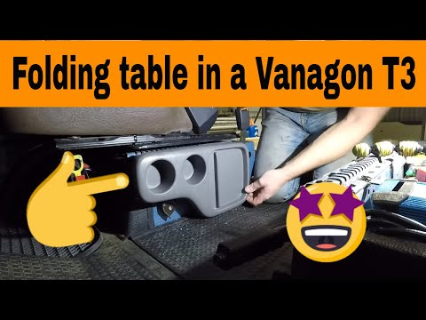 How to install a Honda CR-V folding table in a Vanagon T3 T25