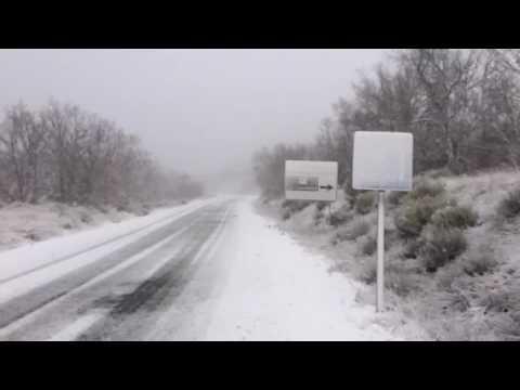 Estado de las carreteras de Salamanca por la nieve