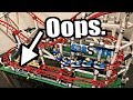 My LEGO Roller Coaster mistake. And a new problem has come.