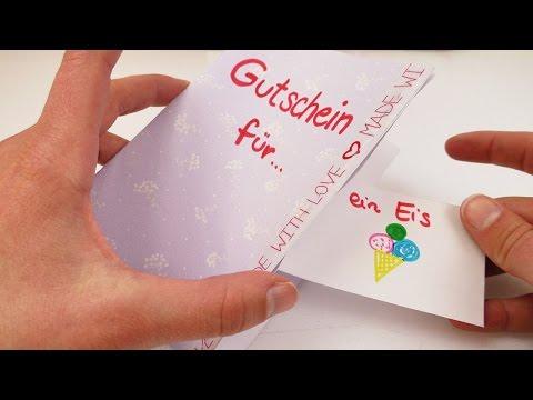 DIY Gutschein | Tolle Geschenk Idee | Karte basteln mit Gutscheinen zum rausreißen | einfach