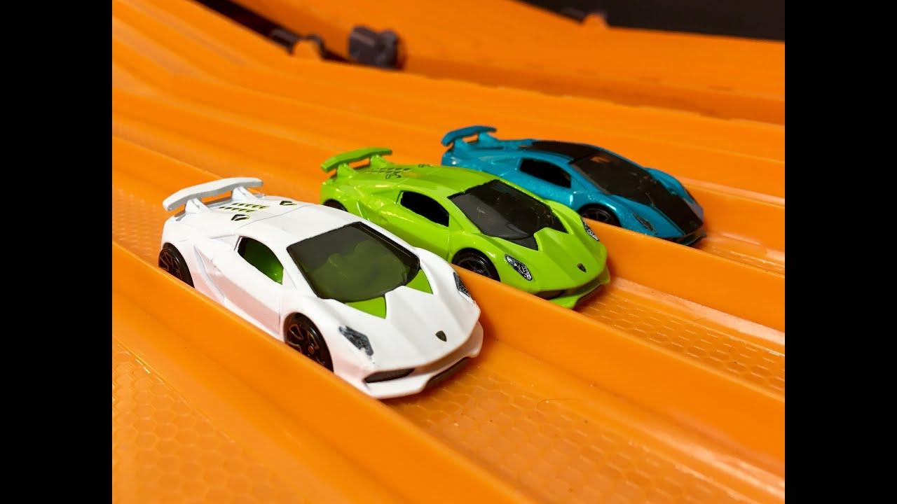 Hot Wheels Lamborghini Sesto Elemento Review Race Youtube