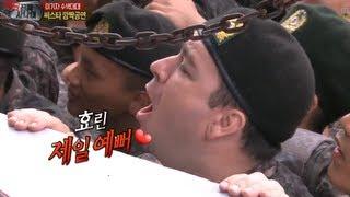 진짜 사나이 - 효린이 제일 예뻐! 효린과 악수하고 소녀 함성지르는 샘!, #13 EP 22 20130908