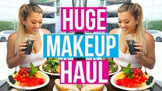 HUGE MAKEUP + GROCERY HAUL!!