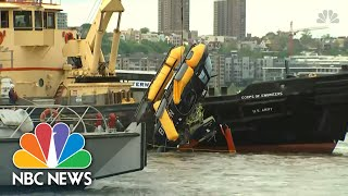 Watch The Moment A Helicopter Crashed Into The Hudson River | NBC News