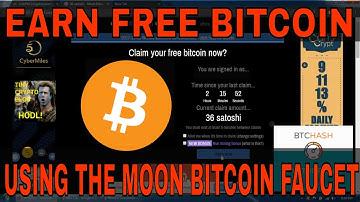 Earning Free Bitcoin Using the Moon Bitcoin Faucet