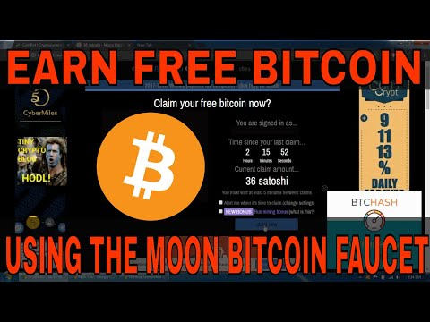 Earning Free Bitcoin Using The Moon Bitcoin Faucet