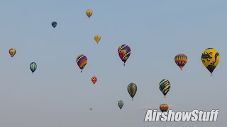 Mass Hot Air Balloon Launch - Battle Creek Balloon Festival 2015