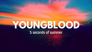 Cover images Younblood; 5 seconds of summer (letra español/inglés)