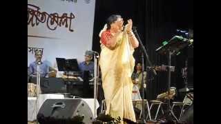 Aami Shilpi Aami Shilpi, Chai Shilpir Samman : Usha Uthup at Rabindra  Sadan, Kolkata, 2014