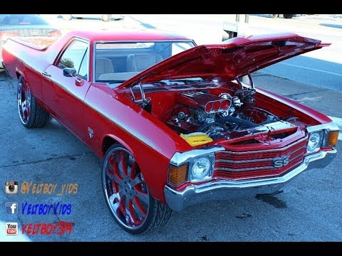 1971 ElCamino on Staggered 26 Vellano Wheels St Louis MO