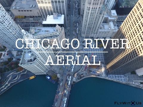 Chicago River Aerial Footage feat. Michigan Avenue by DJI Phantom 4