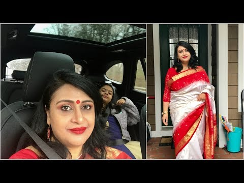 Vlog : Wearing Saree For An Exciting Day In Our Life | Simple Living Wise Thinking