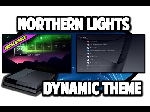 [PS4 THEMES] Aurora Borealis (Northern Lights) Dynamic Theme Video In 60FPS