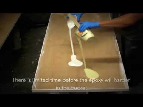 HOW TO APPLY EPOXY RESIN ON TABLE TOPS COUNTER TOPS BAR TOPS ...