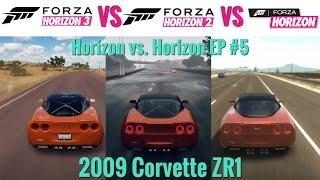 forza horizon 3 vs forza horizon 2 vs forza horizon   2009 corvette zr1   sound comparison 5