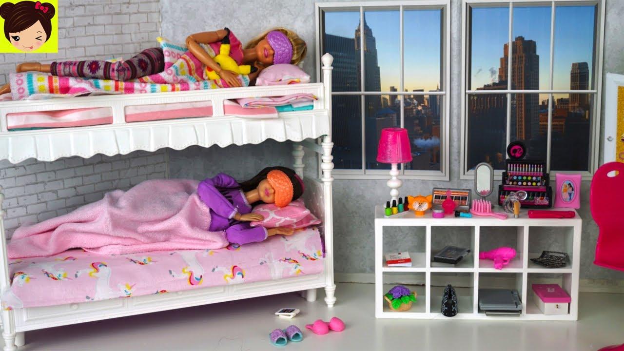 Rutina de ma ana en casa de barbie y sus hermanas juguetes de titi youtube - La casa de barbie de juguete ...