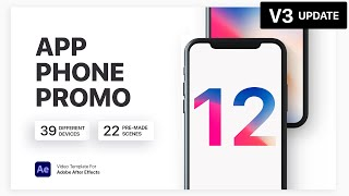 iPhone X - App Presentation | After Effects Template