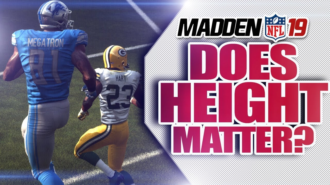 Madden NFL 19: Does Height Matter? SGO Sports Science
