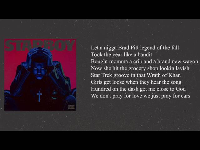 The Weeknd Starboy ft  Daft Punk Lyrics