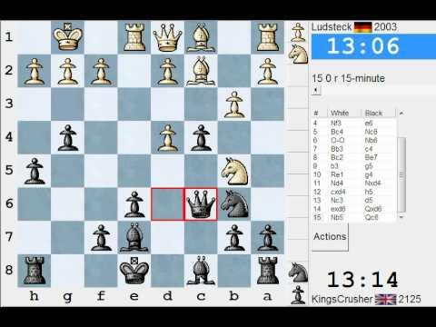 Chess World.net: LIVE Rapid #95 vs Ludsteck (2003) - Sicilian: Alapin's variation (2.c3) (B22)