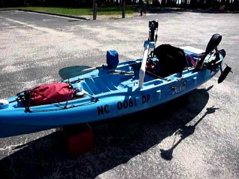 how to install a trolling motor on a canoe